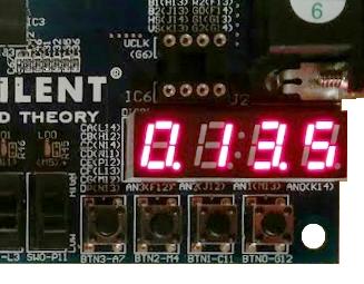 Stopwatch auf Basys2 Board